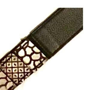 Chico's Accessories - Chico.s Belt Leather & Stretch snakeskin pattern M